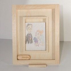 Wooden Case Usb and Photo...